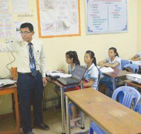 Một trường học ở thủ đô Phnom Penh Ảnh