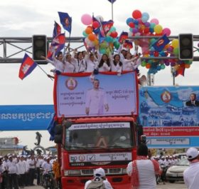 Lễ ra quân chiến dịch vận động tranh cử của đảng Nhân dân Campuchia.