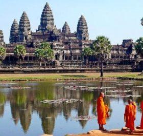 Khu di tích Angkor Wat của Campuchia là điểm du lịch hấp dẫn đối với du khách quốc tế. (Nguồn: The Indian Express)