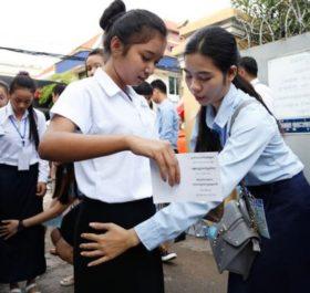 Cải cách giáo dục Campuchia bắt đầu từ những việc cụ thể nhất: thi cử thật nghiêm minh. Ảnh: The Phnom Penh Post.