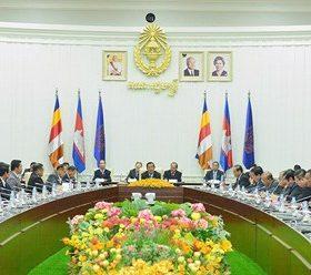 Thủ tướng Hun Sen gặp gỡ lãnh đạo các đảng chính trị.