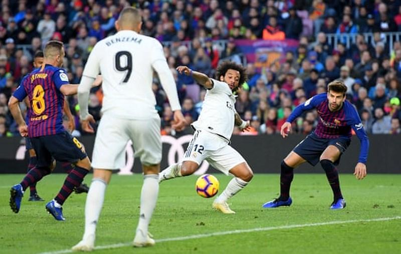 diễn biến trận đấu giữa Real và Barcelona