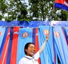 Người ủng hộ đảng CPP của Hun sen