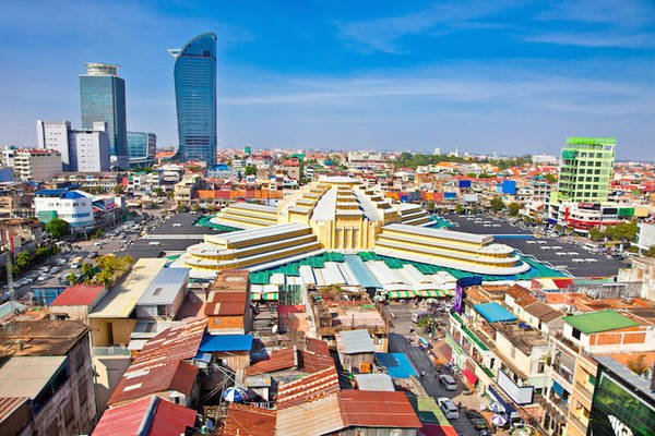 Du lịch Campuchia tại Phnom Penh: Chợ Trung Tâm.