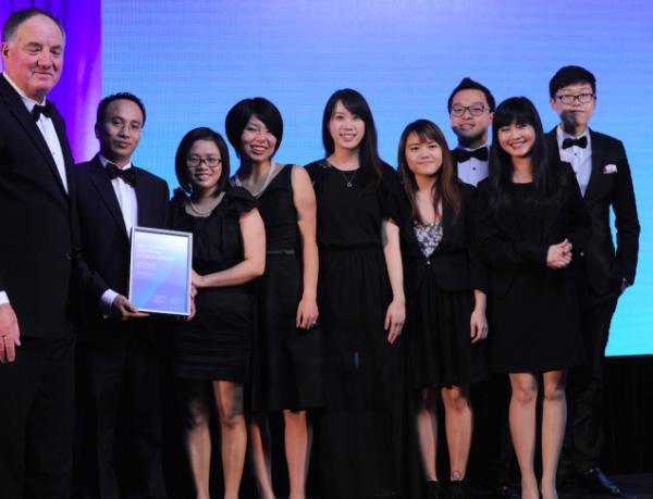 Hoàng Hiếu Huy nhận giải thưởng bên bạn bè