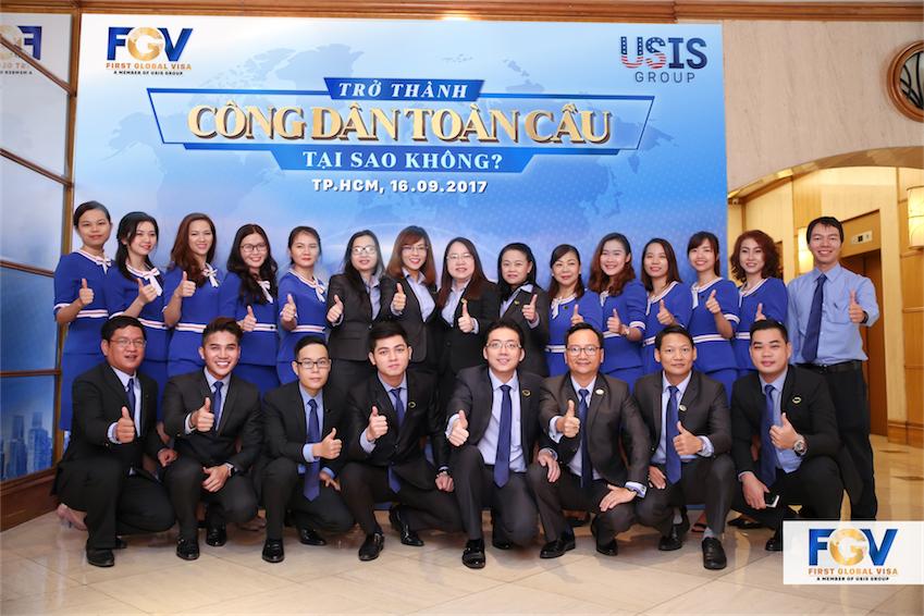 Đội ngũ nhân viên của First Global Visa