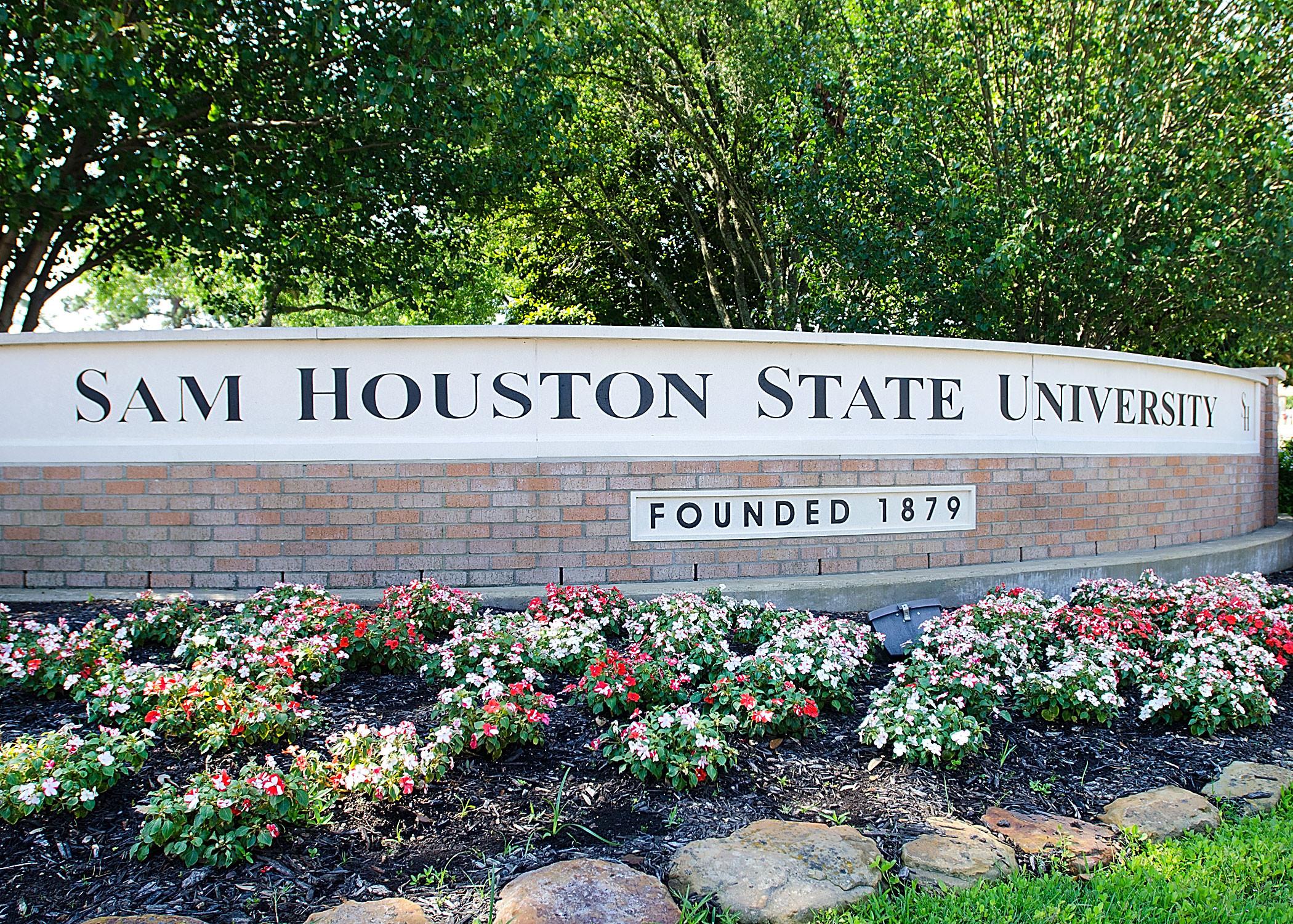 Bảng tên trường Sam Houston State University